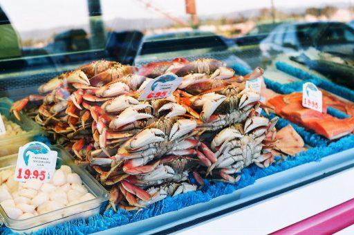 vissen op de markt