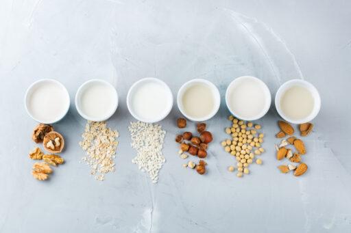 Verschillende-plantaardige-melk